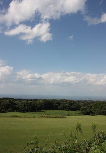 Vue sur la Mer du Japon depuis le Mt Daisen dans la préfecture de Tottori, Japon