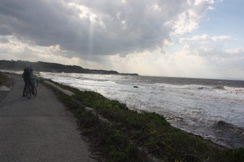 Mer du Japon au pied du Mt Daisen dans la préfecture de Tottori, Japon