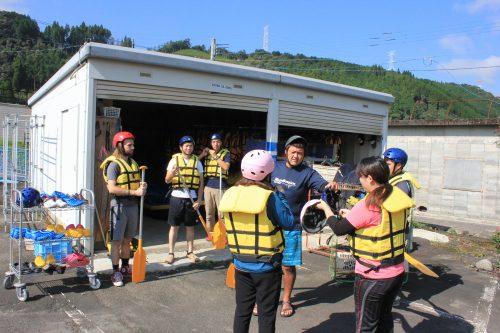 Rafting sur le fleuve Kuma, dans la préfecture de Kumamoto, Kyushu, Japon