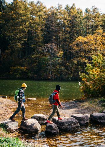 Randonnée sur le Shin-etsu Trail, Préfecture de Nagano, Japon