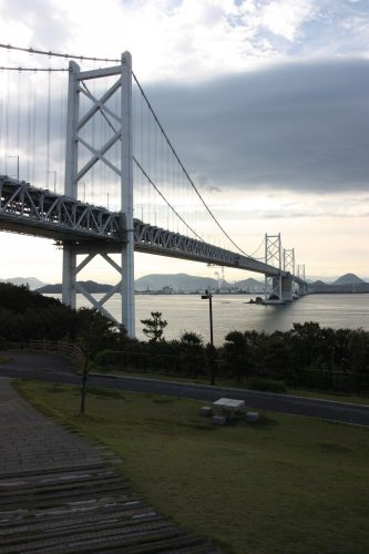 Pont de Ohashi, traversant la Mer Intérieure de Seto pour rejoindre Shikoku, Japon