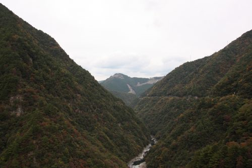 Vue sur la vallée d'Iya, préfecture de Tokushima, Shikoku, Japon