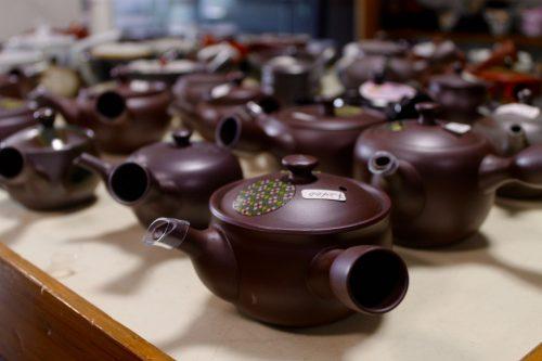 Boutique de thé découverte lors du festival Machiya Byobu de Murakami, préfecture de Niigata, Japon