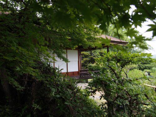 Maison traditionnelle et jardin japonais à Okochi Sanso, Kyoto, Japon