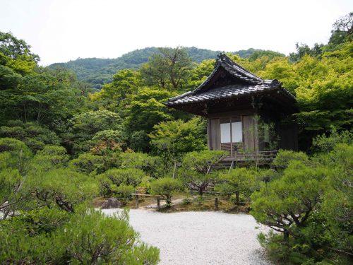 L'un es pavillons de la résidence Okochi Sanso, à Kyoto, Japon
