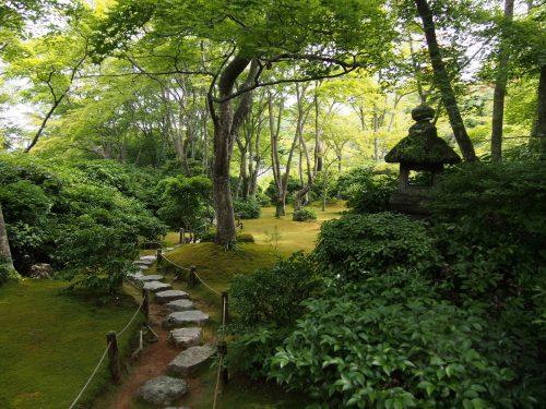 Jardin japonais de la résidence Okochi Sanso, à Kyoto, Japon
