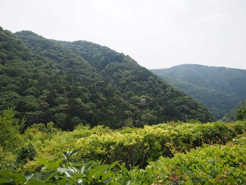 Panorama depuis les hauteurs de la résidence Okochi Sanso, à Kyoto, Japon