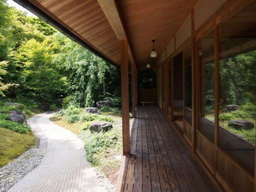 Maison traditionnelle et jardin japonais à la résidence Okochi Sanso, à Kyoto, Japon