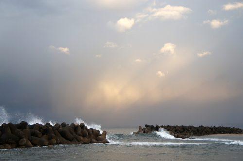 Vue sur la Mer du Japon depuis Kaike Onsen, région du San'in, Japon