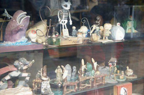 Boutique de souvenir sur la Mizuki Shigeru Road à Sakaiminato, région du San'in, Tottori, Japon