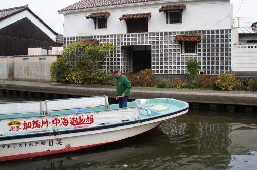Croisière sur la rivière Kamogawa à Yonago, région du San'in, Tottori, Japon