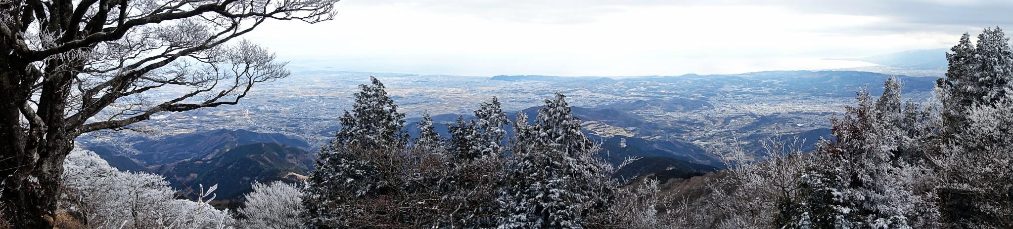 Vue panoramique depuis le sommet du Mt Oyama, préfecture de Kanagawa, Japon