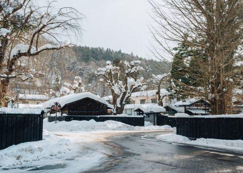 L'ancien quartier des samouraïs sous la neige à Kakunodate, Senboku, Akita, Japon