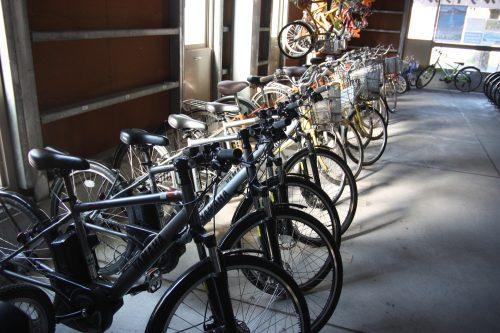 Vélos de location du centre Rinrin à Minamisatsuma, Kagoshima, Kyushu, Japon