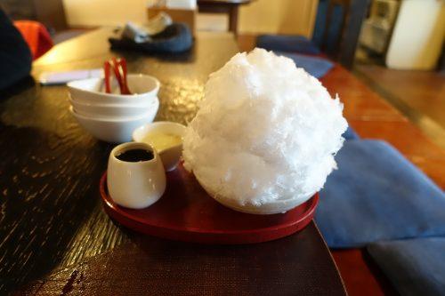 Kakigori, spécialité de Nagatoro, près de Chichibu dans la préfecture de Saitama, Japon
