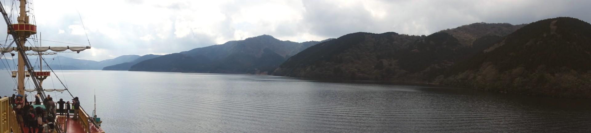 Vue panoramique sur le lac Ashi à Hakone, Kanagawa, Japon