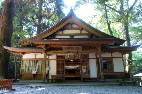 Un des bâtiments du sanctuaire de Takachiho, Miyazaki, Kyushu