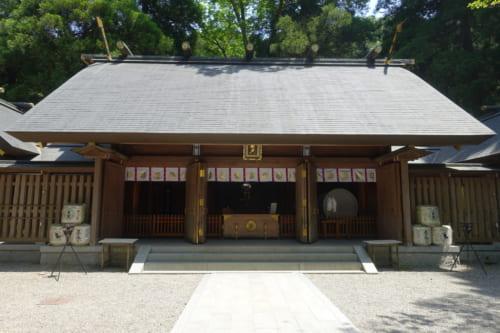 Bâtiment principal du sanctuaire Amanoiwato à Takachiho, Miyazaki, Kyushu