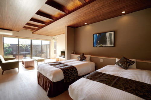 Chambre de l'hôtel Kamigakure à Takachiho, Miyazaki, Kyushu