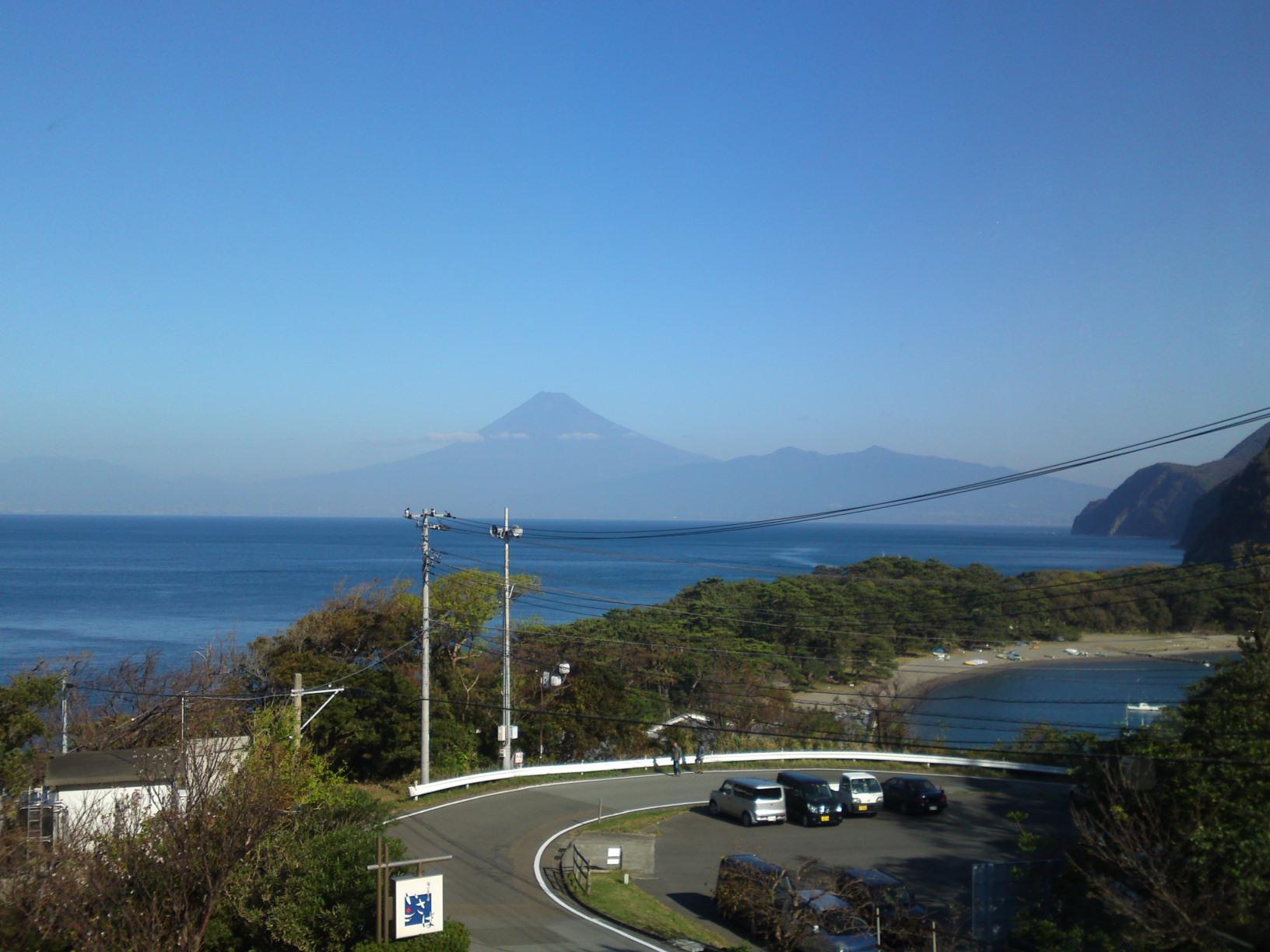 Heda Izu Peninsula Mount Fuji view beach
