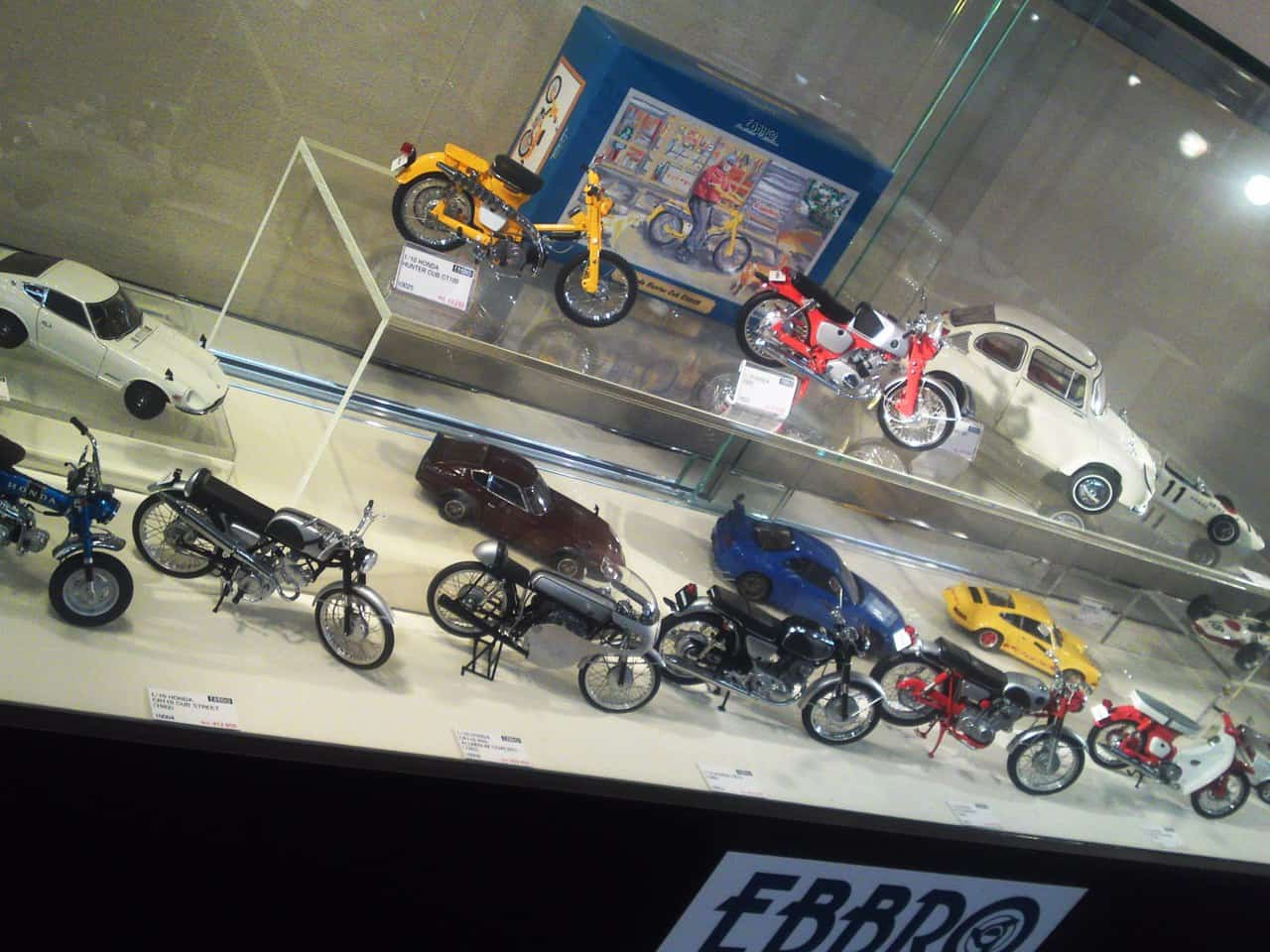 Japanese miniature hobby model cars bicycles