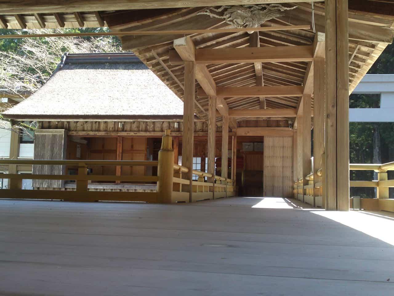 Noh stage at Okuni Shrine in Mori Machi, Hamamatsu