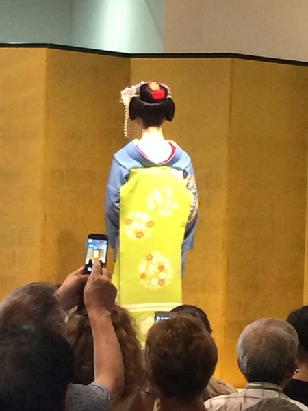 a Maiko in Kyoto showing traditional Japanese culture