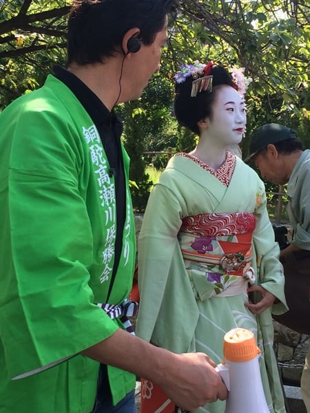 Maiko are apprentices and can be seen in Kyoto, a visual representation of Japanese tradition