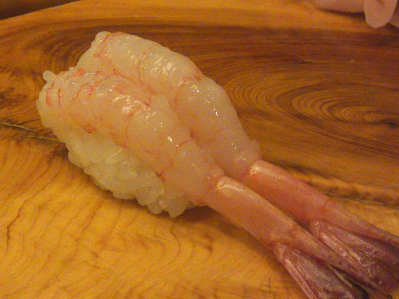 """""""Amaebi/Sweet shrimps"""" nigiri"""