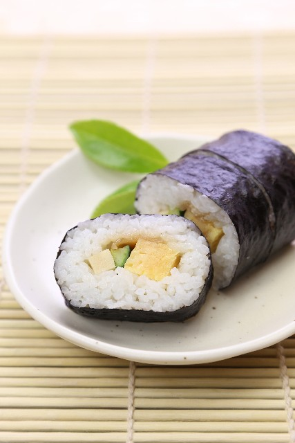 When it comes to sushi,Not only can raw fish can be in it as an ingredient but also vegetable is used