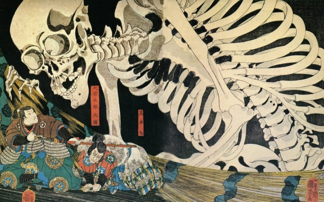 """This is Ukiyo-e representing """"tales of the floating world"""" and traditional Japanese story,and it reflects local expression toward what they're seeing in the world"""