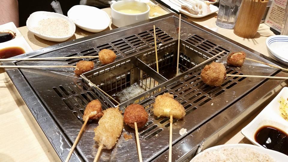 Osaka specialty food kushikatsu