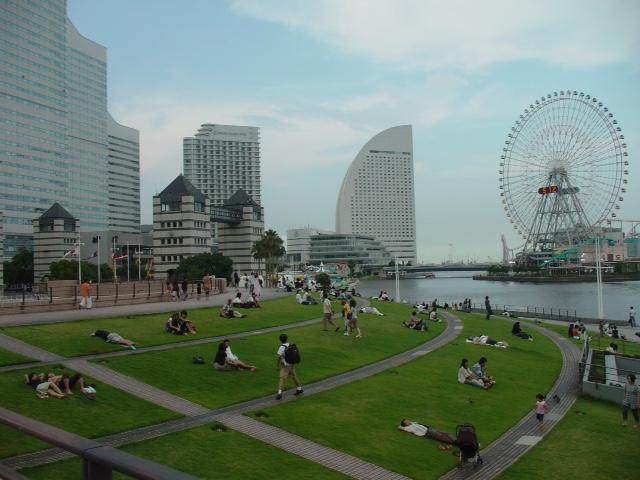 ferris wheel in Yokohama.