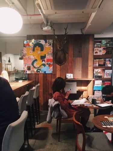 inside hug coffee cafe in Shizuoka