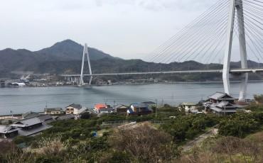 Bicycle, Cycling, Bridge, Temple, Garden, Marble,Shimanami Kaido