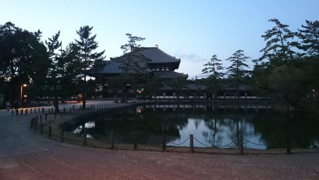 pond outside of Todaiji in Nara, Omizutori festival