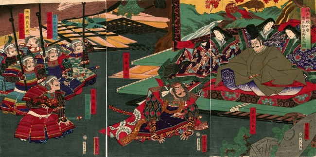 painting of Kiyomasa Kato in Kumamoto Castle, rich in history