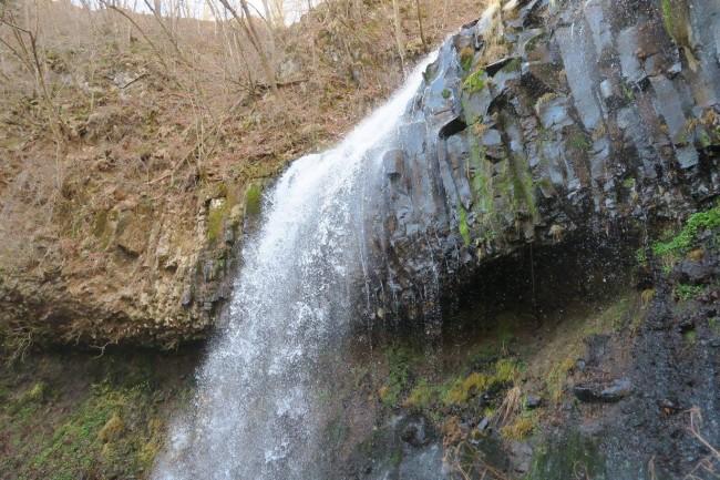 Makkura Falls viewed while hiking, one waterfall among many around Nikko
