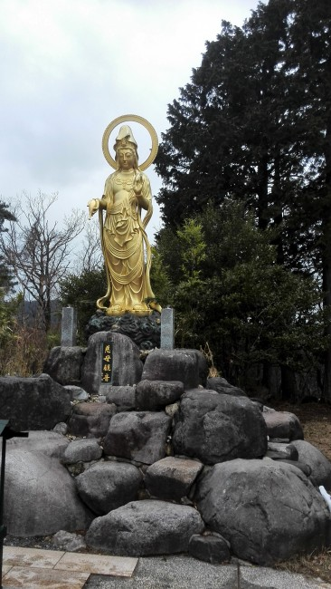 statue at Onsen-ji Temple