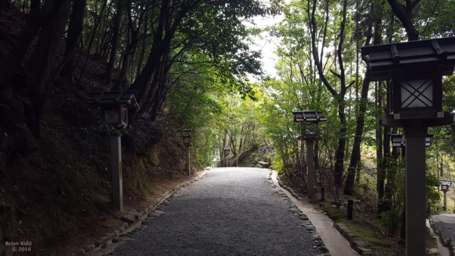 Path of medicine near Omiwa shrine in Nara