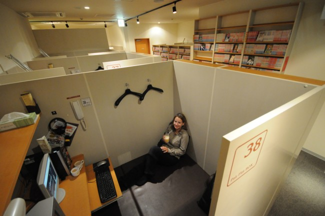 internet cafe is an accommodation ption in missing the train in Japan