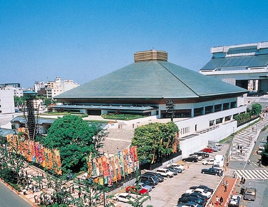 the Ryogoku Kokugikan Stadium is host to many Sumo sport tournaments in Japan