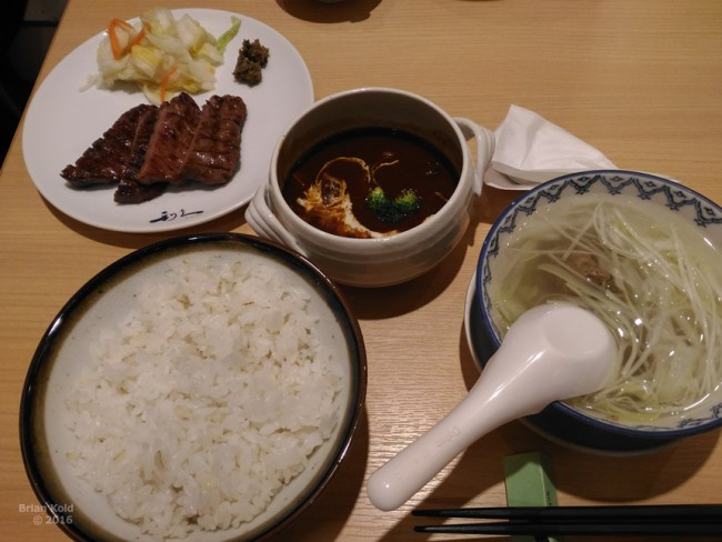 Gyutan, Sendai local specialty food at a restaurant