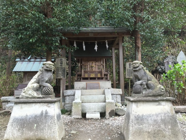Guardian Shinto statues at Goryo Shrine, Kamakura
