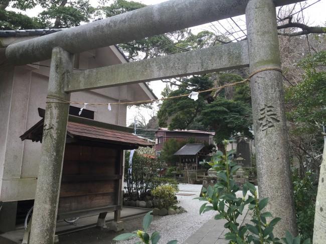 Shinto Torii gateway before Goryo Shrine, one among the shrine and temple multitude within Kamakura