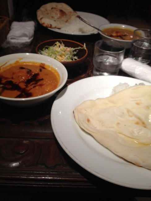 Second helping of Krishna curry in Sapporo, Hokkaido.