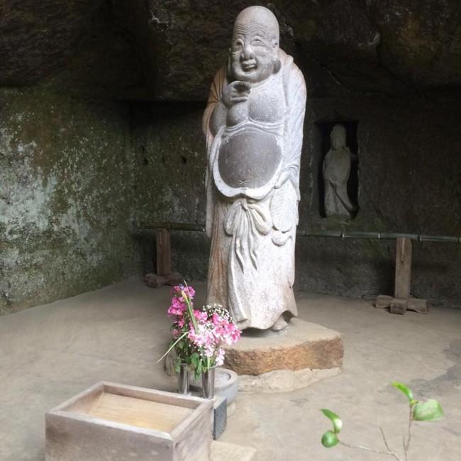 Smiling Buddha, Jochiji temple, Kamakura