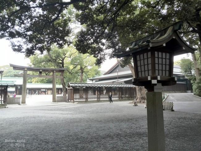 Meiji Shrine grounds in Tokyo