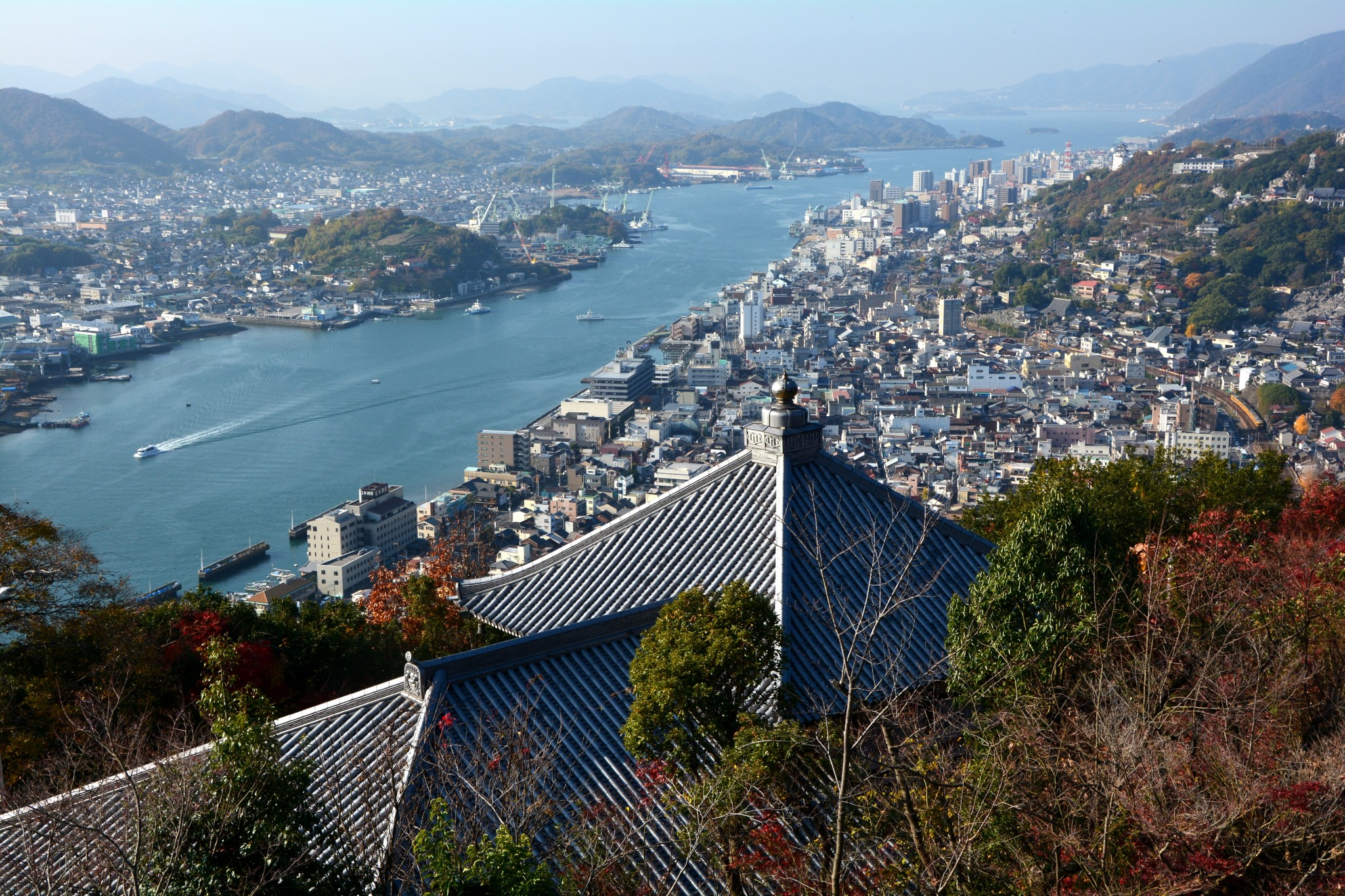 arial view of Onomichi Hiroshima Japan
