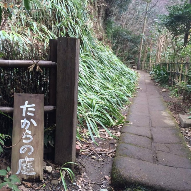 The art gallery nature portal, Takaranoniwa off Daibutsu hiking course, Kamakura